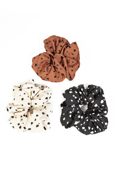 Spotted Scrunchie Set