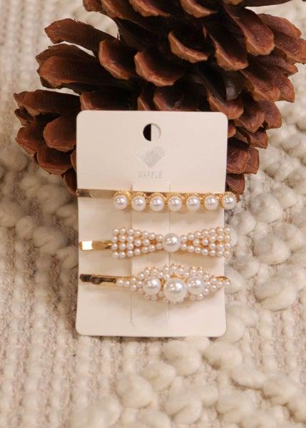 3pk Pearl Hair Pins