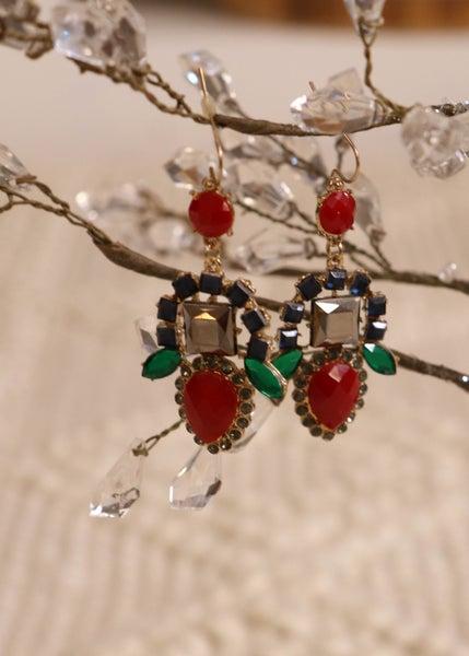 Multi Color Jeweled Earring *Final Sale*