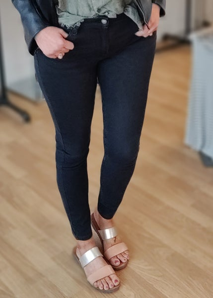 Alicia Mid Rise Black Judy Blue Skinny Jeans