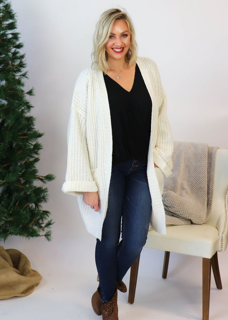 Ivory Knit Cardigan