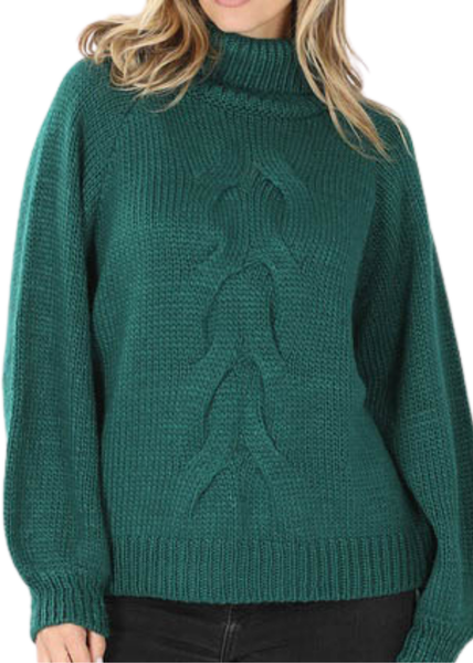 DOORBUSTER - Green Crop Cableknit *Final Sale*