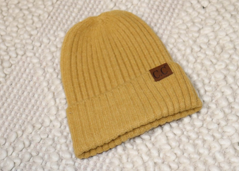 CC Ribbed Beanie: Mustard *Final Sale*