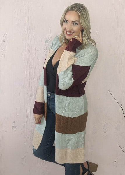 Laurel Striped Cardigan