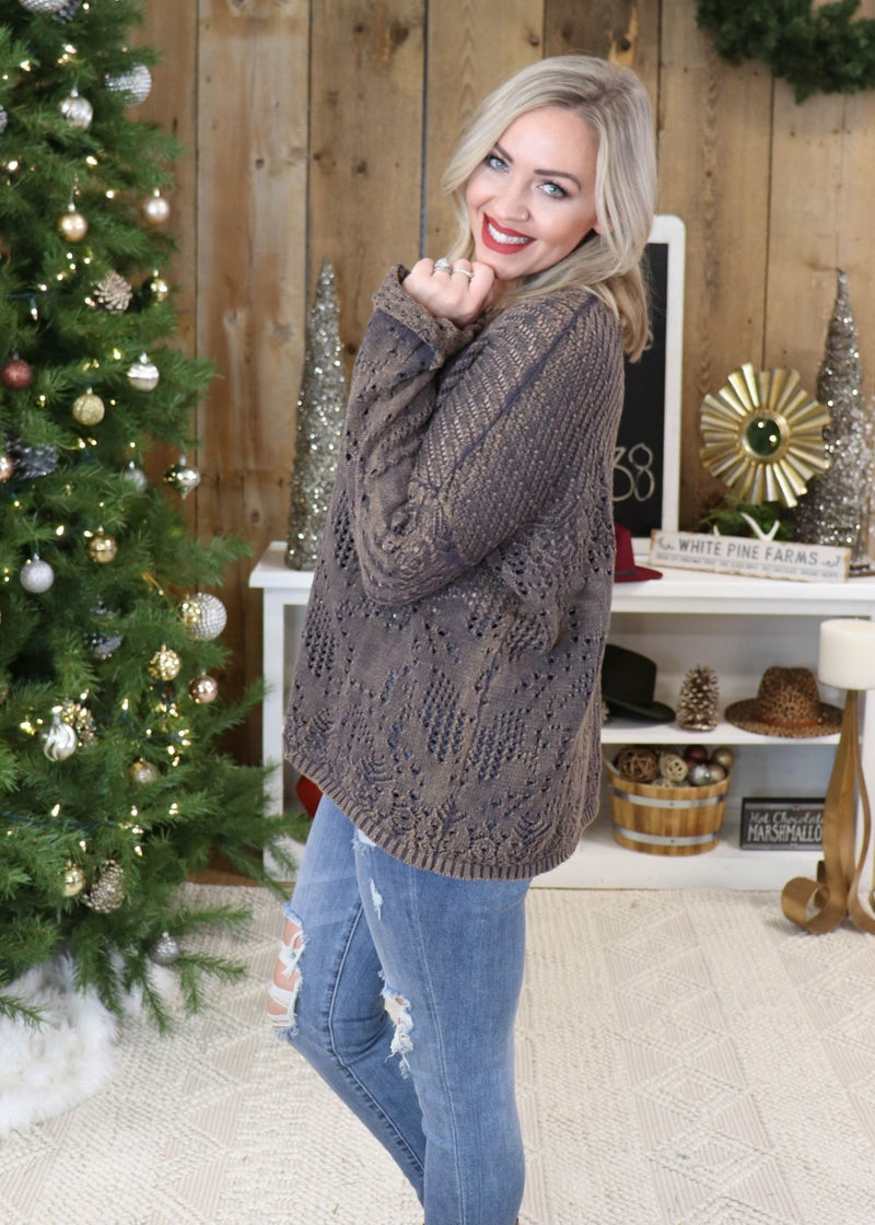 DOORBUSTER - Reese Charcoal Relaxed Sweater*Final Sale*