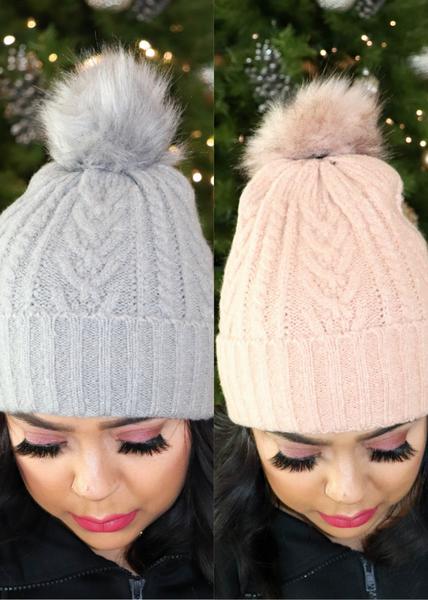 DOORBUSTER-Detachable Pom Hats *Final Sale*