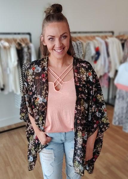 Tammy Sheer Floral Kimono