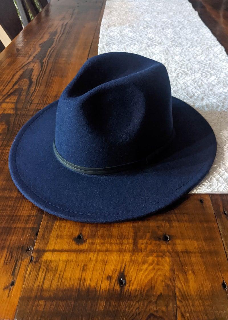 Navy Retro Brim Hat *Final Sale*