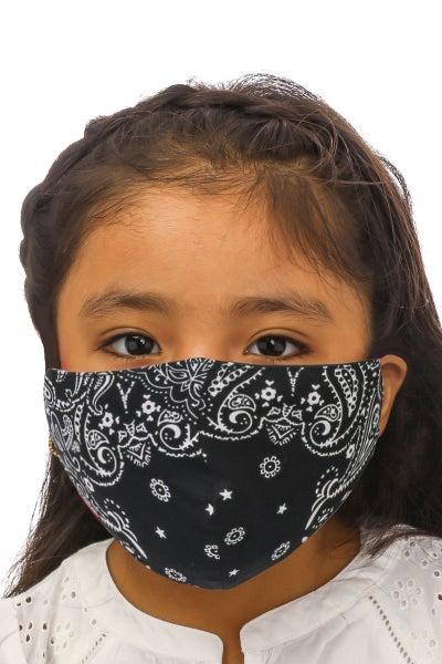 Toddler, Black Paisley Mask *Final Sale*