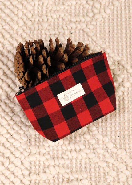 DOORBUSTER-Accessory Bag: Red Plaid *Final Sale*