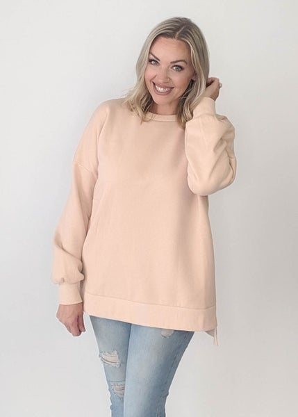 Light Peach Crew Sweatshirt