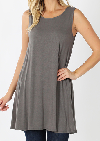 *STEAL DEAL* Trudy Tunic - Charcoal