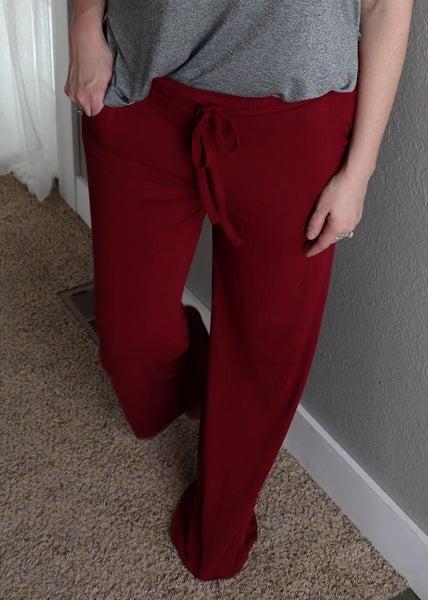 Lounge Pants-Cabernet