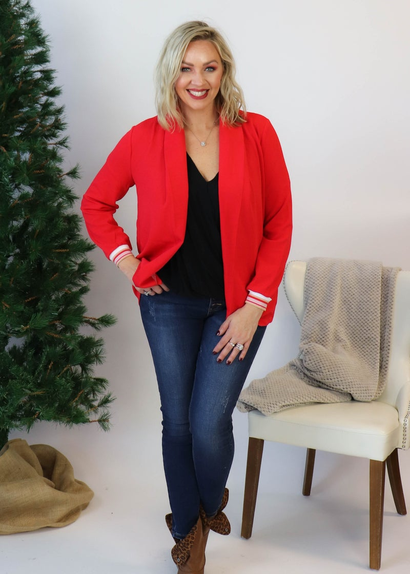 Rosalie Red Blazer