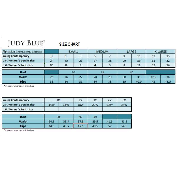 Judy Blue Sizing