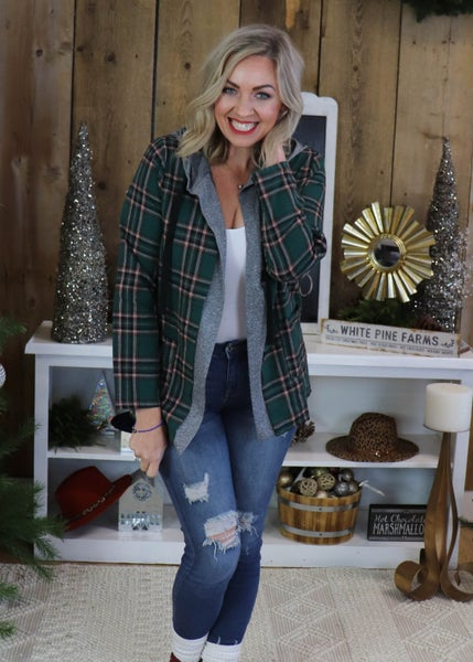 Robert Green Plaid Cardigan