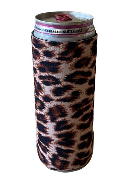 Cheetah Print Can Koozie-12 oz