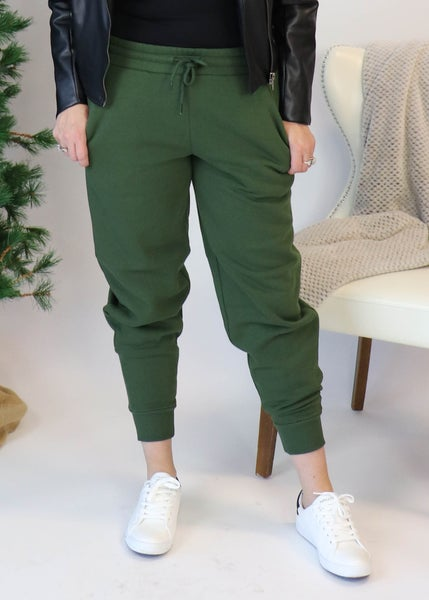 Fleece Joggers: Army Green