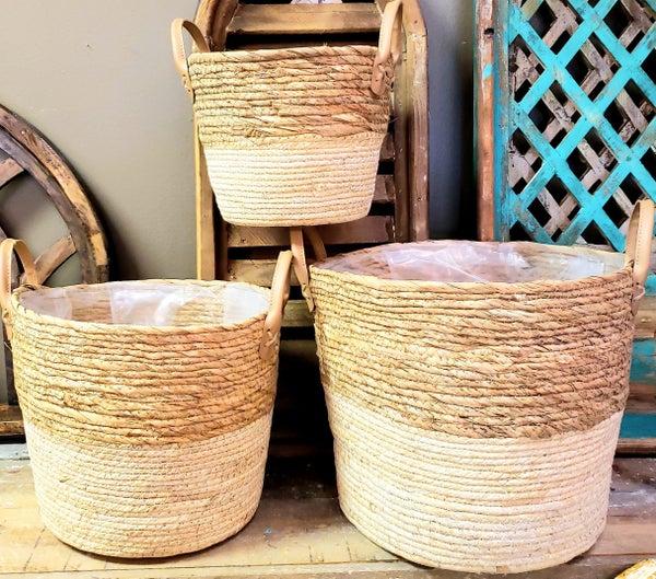 Natural Baskets w/ Handles