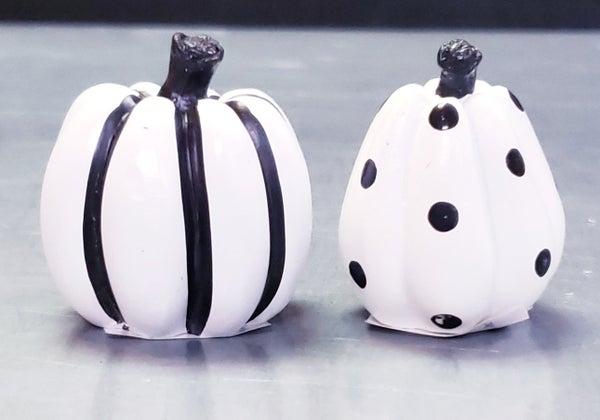 White Mini Patterned Pumpkins