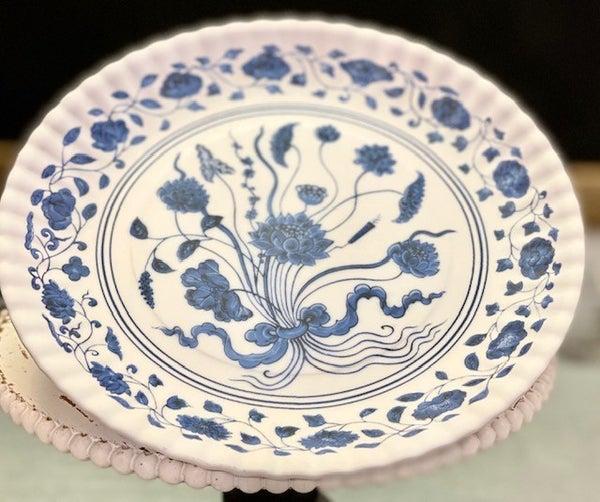 Chinese Blue Melamine Plates