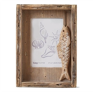 Carved Fish Photo Frame