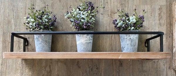 Wood/Wrought Iron Shelf