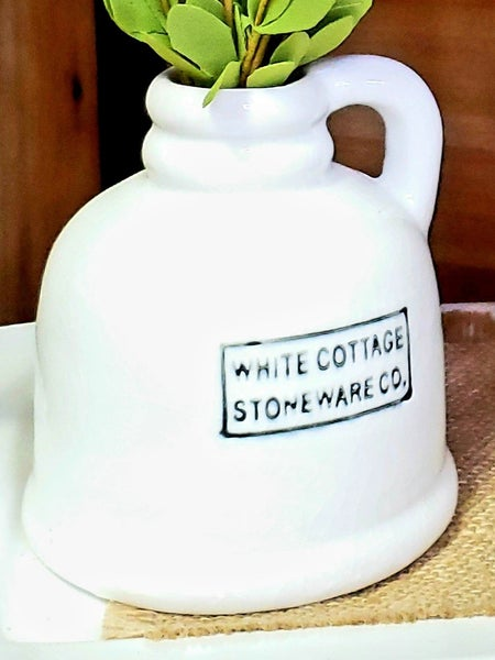 White Cottage Stoneware Jug