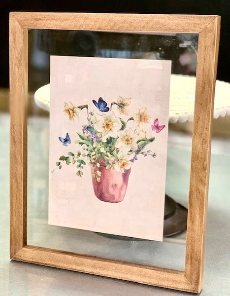 Assorted Glass Press Floral Pictures (see pictures)