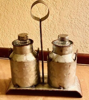 Milk Can Salt & Pepper Set