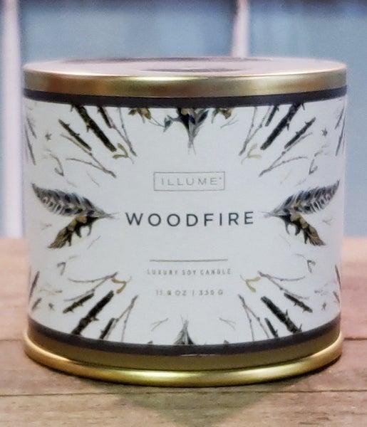 Large Woodfire Candle