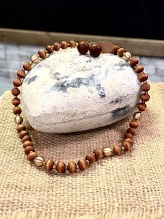 Wooden Bead Jewelry Necklace