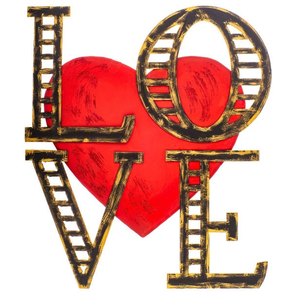 Love on Love Heart Stake