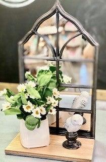 Mirror Sconce w/ Shelf