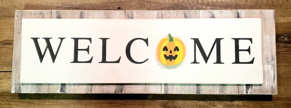 Wooden Changing Season Welcome Sign