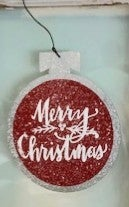 Metal Sparkly Ornament
