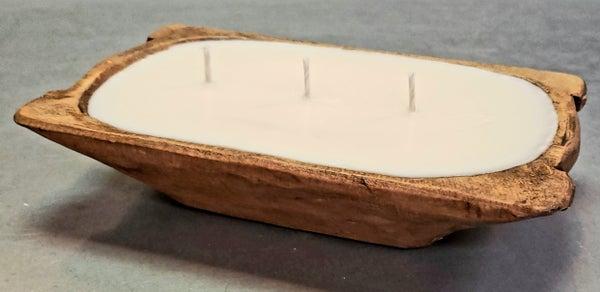 Mini Walnut Trough Bowl Candle