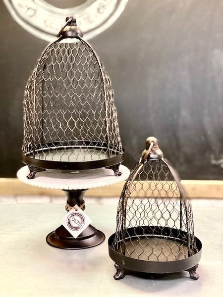 Black Chicken Wire Cloche