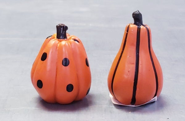 Orange Mini Patterned Pumpkins