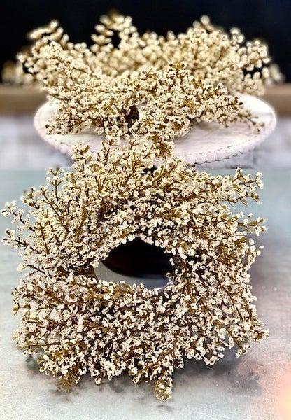 """8"""" Bursting Astilbe Cream Wreath"""