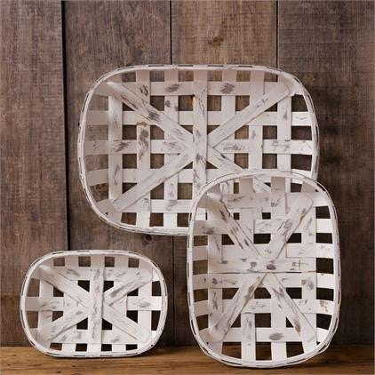 Chippy White Rectangular Tobacco Baskets