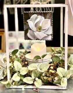 White Planter Lantern