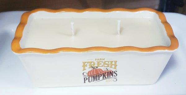 Two Wick Fresh Pumpkin Candle in Pumpkin Fields