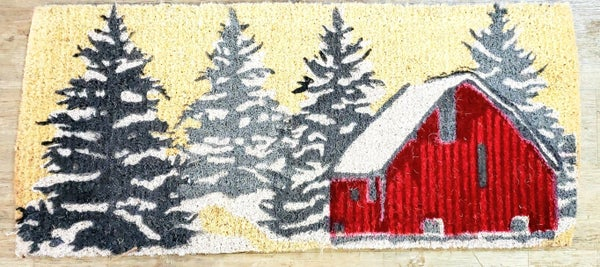 Winter Barn Doormat