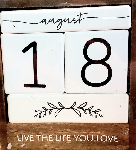 Live Life Love Block Calendar