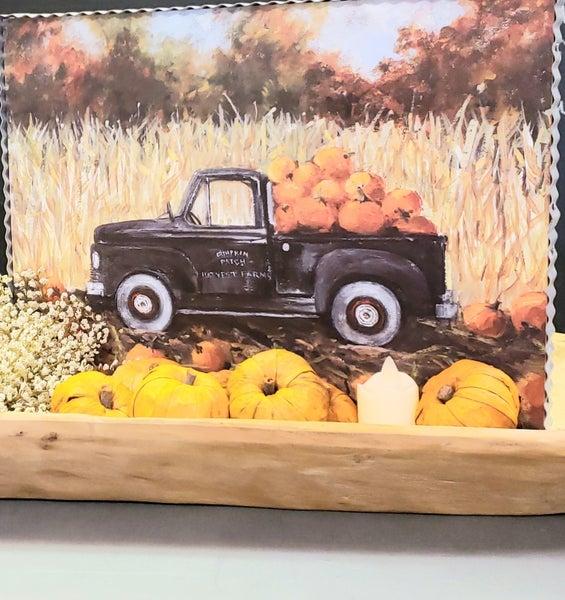 Truck in Pumpkin Patch