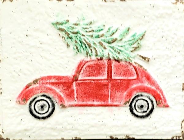 Merry Christmas Bug w/ Tree Sign