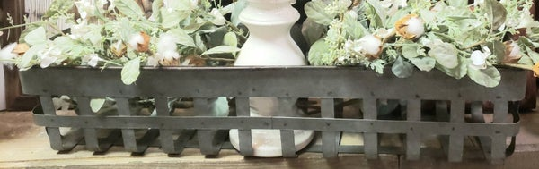 Metal Basket Wall Shelf