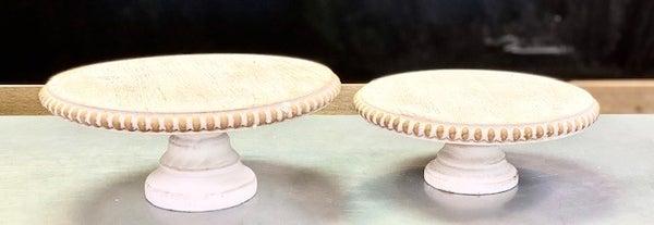 Beaded Pedestal Tray