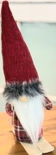 Red Skiing Gnome